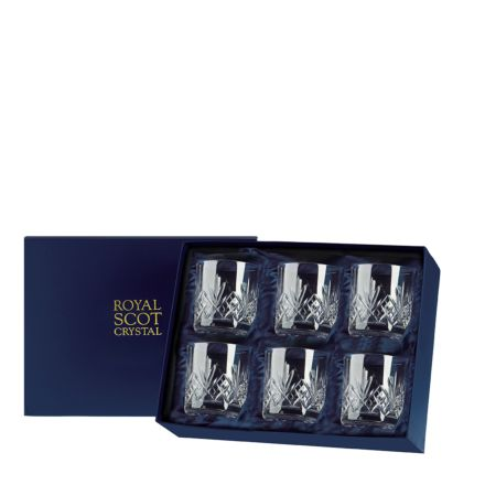 Highland - 6 Old Fashioned Tumblers 84 mm (Presentation Boxed) | Royal Scot Crystal
