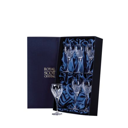 Highland - 6 Crystal Port / Sherry Glasses 165mm (Presentation Boxed) | Royal Scot Crystal