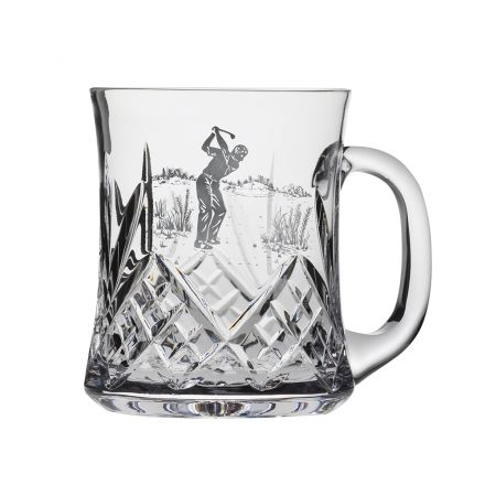 Highland 1 pint Tankard Engraved Golfer (Gift Boxed) | Royal Scot Crystal