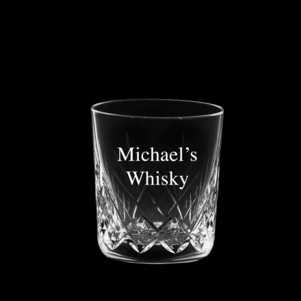 Personalised - Hand Cut Engraved 1 Highland Large Crystal Tumbler - 95mm (Gift Boxed) | Royal Scot Crystal