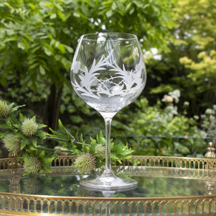 Flower of Scotland (Thistle) - Gin and Tonic (G&T) Copa Glass (Gift Boxed)