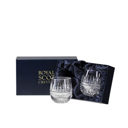 Iona 2 Barrel Tumblers 85mm (Presentation Boxed) | Royal Scot Crystal