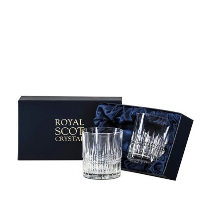 Iona 2 Large Tumblers 95mm (Presentation Boxed) | Royal Scot Crystal