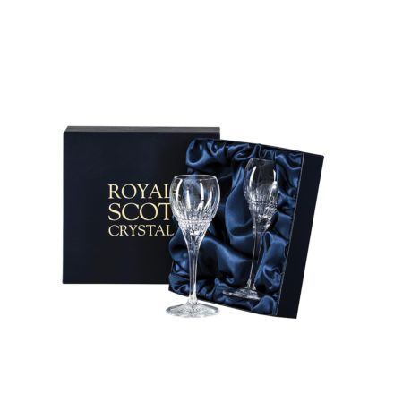 Iona - 2 Crystal Port / Sherry Glasses 165mm (Presentation Boxed) | Royal Scot Crystal