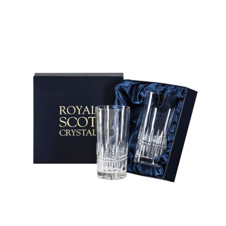 Iona - 2 Tall Crystal Tumblers 150mm (Presentation Boxed) | Royal Scot Crystal