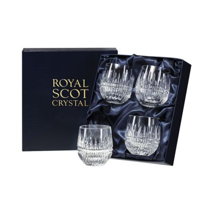 Iona 4 Barrel Tumblers  85mm (Presentation Boxed) | Royal Scot Crystal