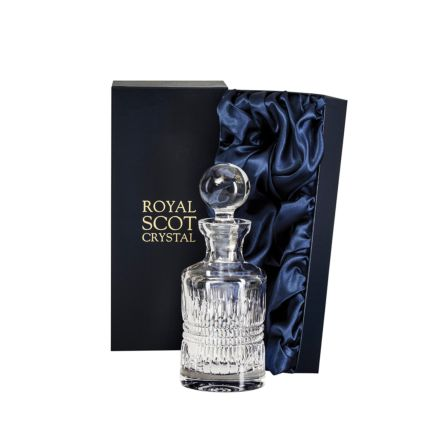 Iona Rum Round Barrel Decanter 250mm (Presentation Boxed) | Royal Scot Crystal