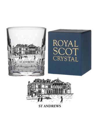 Kintyre Crystal Tot Glass engraved St Andrews Club House (Gift Boxed)