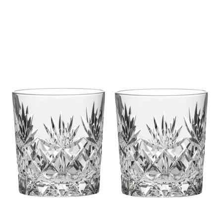 Kintyre 2 Crystal Large Tumblers - 95mm (Gift Boxed) | Royal Scot Crystal