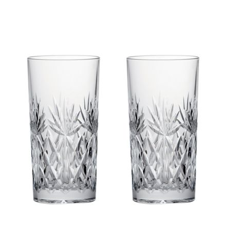 Kintyre 2 Crystal Tall Tumblers  - 150mm (Gift Boxed) | Royal Scot Crystal