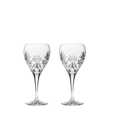 Kintyre 2 Crystal Wine Glasses - 195mm (Gift Boxed) | Royal Scot Crystal