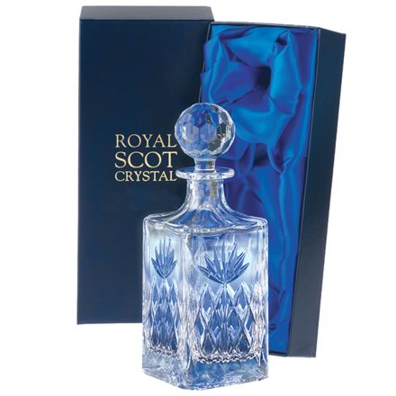 Kintyre - Crystal Square Spirit Decanter - 245mm (Presentation Boxed) | Royal Scot Crystal