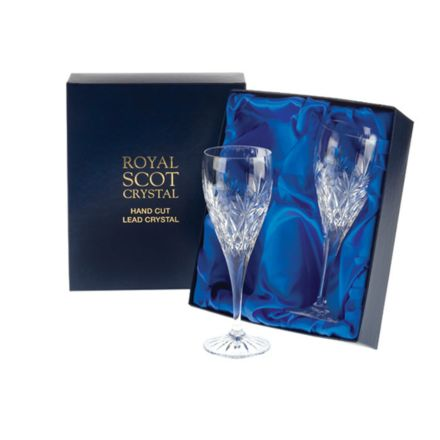 Kintyre - 2 Port / Sherry Crystal Glasses  - 165mm (Presentation Boxed) | Royal Scot Crystal