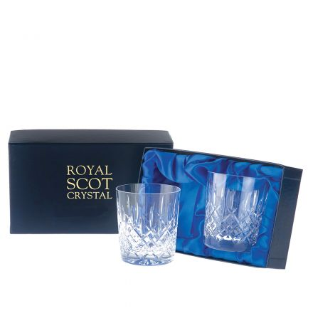 London - 2 Large Crystal Tumblers 95mm (Presentation Boxed) | Royal Scot Crystal