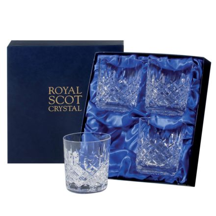 London - 4 Large Crystal Tumblers 95mm (Presentation Boxed) | Royal Scot Crystal | Royal Scot Crystal