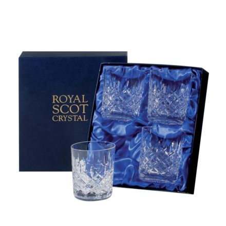 London - 4 Crystal Small Whisky Tumblers 87mm (Presentation Boxed) | Royal Scot Crystal