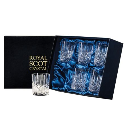 London - 6 Large Crystal Tumblers 95mm (Presentation Boxed) | Royal Scot Crystal