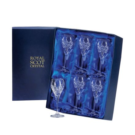 London - 6 Port / Sherry Glasses 165mm (Presentation Boxed) | Royal Scot Crystal