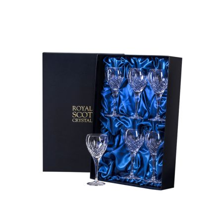 London - 6 Crystal Wine Glasses 195mm (Presentation Boxed) | Royal Scot Crystal - New Shape!
