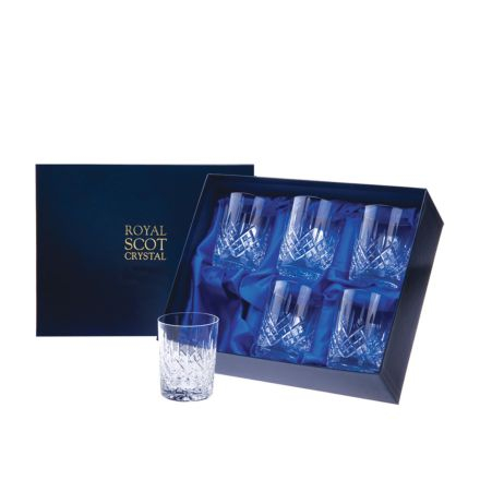London - 6 Crystal Small Whisky Tumblers 87mm (Presentation Boxed) | Royal Scot Crystal