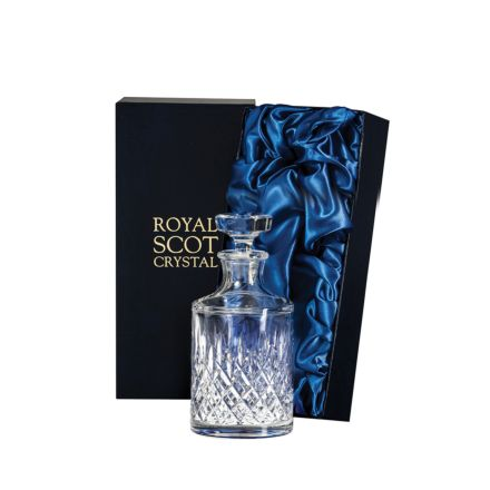 London - Single Malt Round Spirit Decanter 200mm (Presentation Boxed) | Royal Scot Crystal