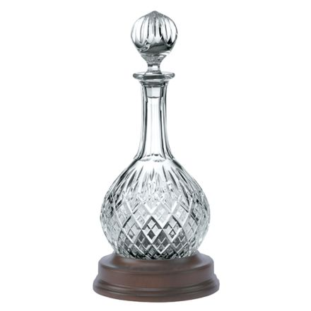 London Crystal Hogget Decanter (With Solid Mahogany Base) (Gift Boxed)
