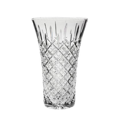 "SALE - London Crystal Extra Large Flared Vase 12"", 300mm (BROWN CARD BOX) SECONDS QUALITY"