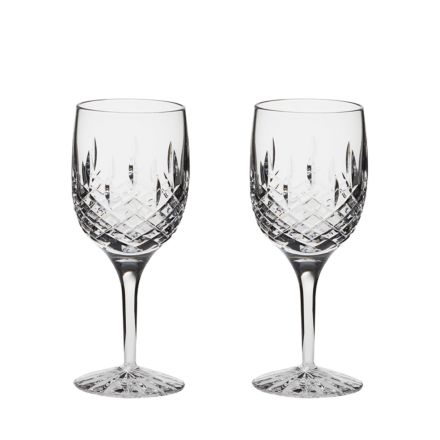 SALE - Aviemore - 2 Large Crystal Wine Glasses 181mm (Gift Boxed) (SECONDS QUALITY) | Royal Scot Crystal