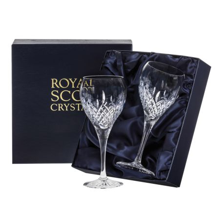 Mayfair - 2 Crystal Large Wine Glasses 210mm (Presentation Boxed) | Royal Scot Crystal