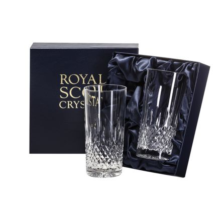 Mayfair - 2 Tall Crystal Tumblers 150mm (Presentation Boxed) | Royal Scot Crystal