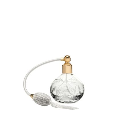 Meadow Flowers Round Perfume Atomiser (Cream Puffer) - 105mm (Gift Boxed) | Royal Scot Crystal