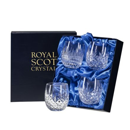Mixed Set of 4 G&T Tumblers - Iona, London, Edinburgh & Highland 95mm (Presentation Boxed) | Royal Scot Crystal