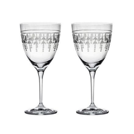 Nouveau - 2 Large Wine Glasses, 205mm (Gift Boxed) | Royal Scot Crystal