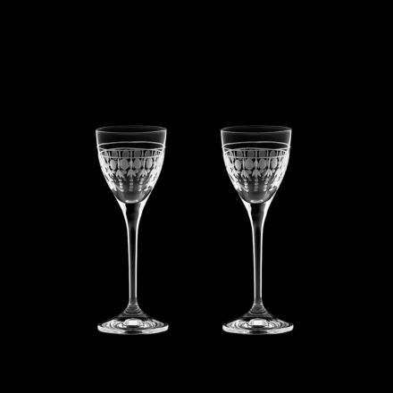 Nouveau - 2 Port / Sherry Glasses, 157mm (Gift Boxed) | Royal Scot Crystal