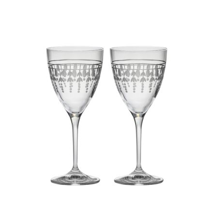 Nouveau - 2 Wine Glasses, 193mm (Gift Boxed) | Royal Scot Crystal