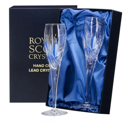 Westminster - 2 Crystal Champagne Flutes (Presentation Boxed)