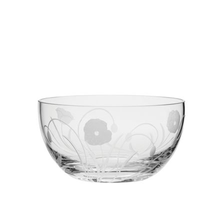 Poppy Field - Fruit Salad Bowl 190mm (Gift Boxed) | Royal Scot Crystal