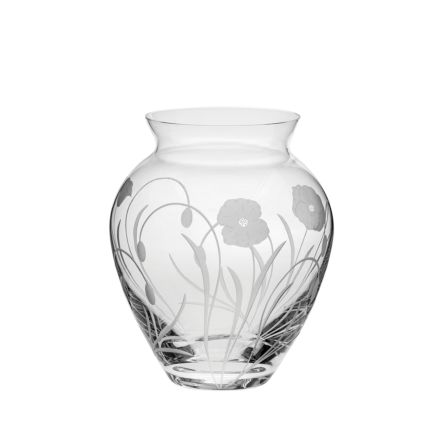 Poppy Field - Large Posy Vase 180mm (Gift Boxed) | Royal Scot Crystal
