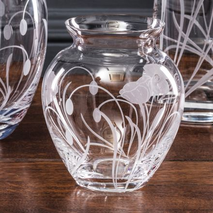 Poppy Field - Small Posy Vase 120mm (Gift Boxed) | Royal Scot Crystal
