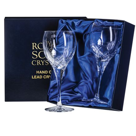 Westminster - 2 Crystal Large Wine Glasses (Presentation Boxed)