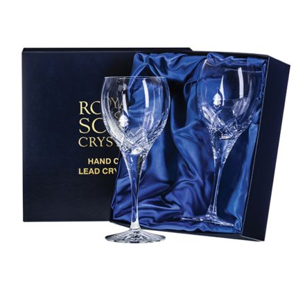 Westminster -  2 Crystal Wine Glasses (Presentation Boxed)