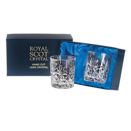 Kintyre - 2 Crystal Large Tumblers 95mm (Presentation Boxed) | Royal Scot Crystal