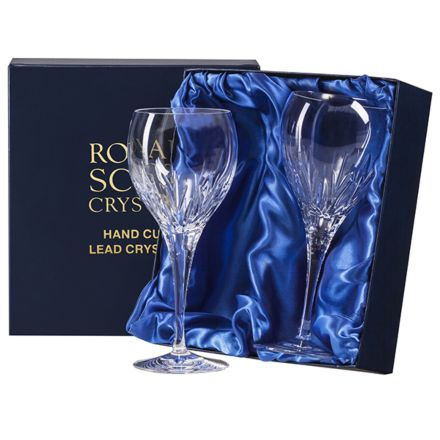 Sapphire - 2 Large Crystal Wine Glasses (Presentation Boxed)
