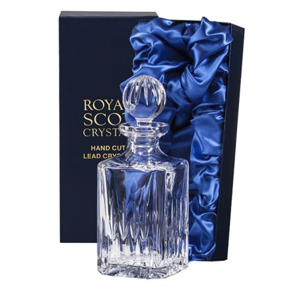 Sapphire Crystal Square Spirit Decanter (Presentation Boxed)