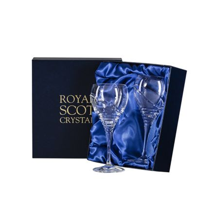 Saturn - 2 Small Crystal Wine Glasses (Presentation Boxed)