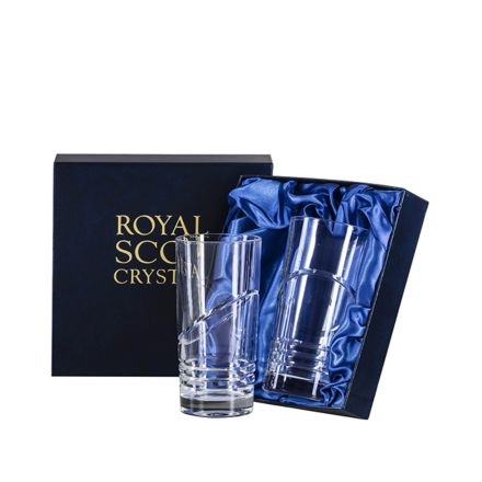 Saturn - 2 Tall Crystal Tumblers (Presentation Boxed)