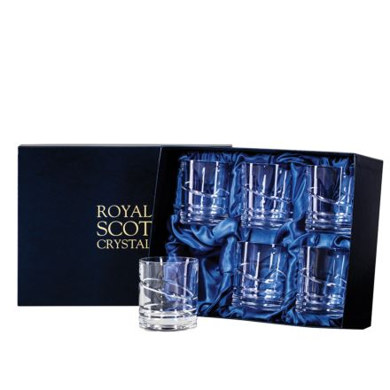 Saturn - 6 Large 'On the Rocks' Tumblers 100 mm (Presentation Boxed) | Royal Scot Crystal