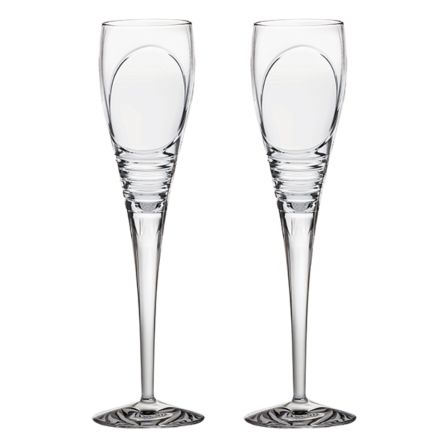 Saturn - 2 Crystal Champagne Flutes (Gift Boxed)
