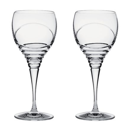 Saturn - 2 Crystal Large Wine Glasses (Gift Boxed)