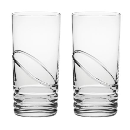 Saturn - 2 Crystal Tall Tumblers (Gift Boxed)